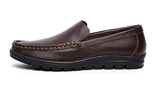 Racing Slip Leather On Class Brown Men's Shoe Boat Minitoo qEwOpn
