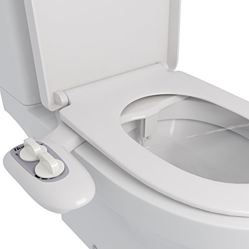 BATHWA Adjustable Bidet Toilet Attachment Self Cleaning Bidet - Dual Nozzle (Male & Female) - Fresh Water Non-Electric Mechanical Bidet - With Strong Water Pressure