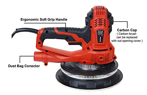IBELL Dry Wall Sander DS80-90, 180MM, 800W, 1200-2300rpm with Vacuum and LED Light 4