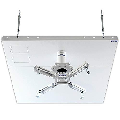 QualGear Pro-AV QG-KIT-S2-3IN-W Projector Mount Kit Accessory Suspended Ceiling 2'x2' Adapter, White (Renewed)