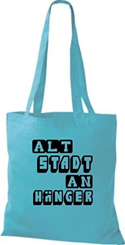 Shirtstown Sky De Mujer Algodón Bolso Azul Para Tela rf0BAr