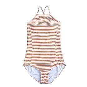 - 41y 2BlVuHvdL - JIANLANPTT Pretty High Neck Print Swimwear Women One Piece Monokini Swimsuits