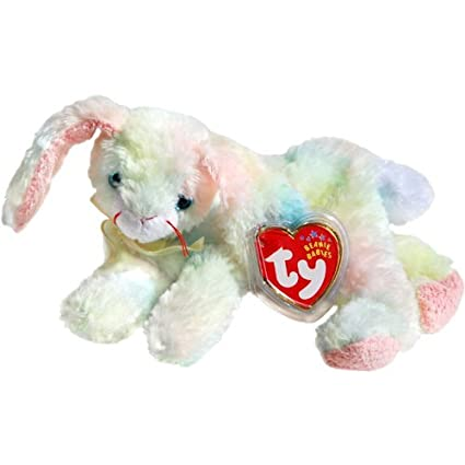 6523cbefc67 Amazon.com  Cottonball the Ty-Dyed Pastel Nappy Easter Bunny Rabbit - Ty  Beanie Babies  Toys   Games