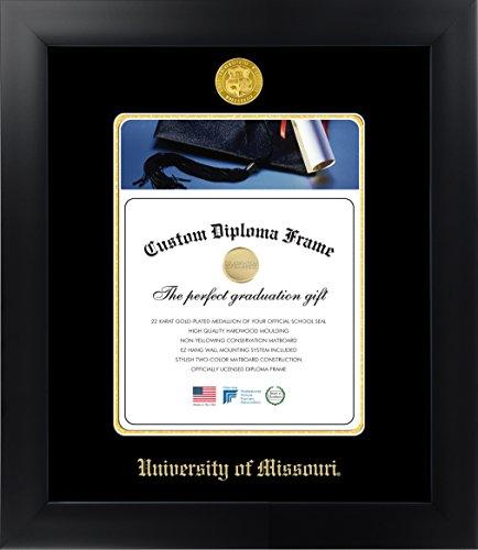 Celebration Frames University of Missouri 11 x 8½ Matte Black Finish Infinity Diploma Frame