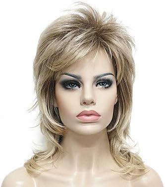De la Mujer sintético peluca medio recta luz Golden luz marrón 100 ...