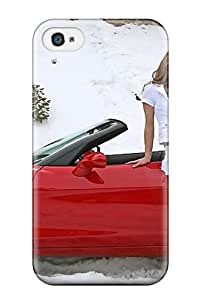 New Super Strong Girls And Cars Tpu Case Cover For Iphone 4/4s 3922143K52429375
