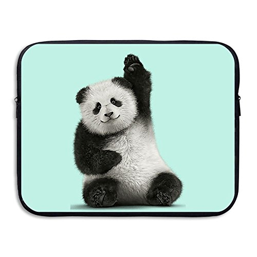 Laptop Sleeve Case Protective Bag Hi Panda Printed Ultrabook Briefcase Sleeve Bags Cover For 13 Inch Macbook Pro/Notebook/Acer/Asus/Lenovo - Style Malaysia Hi