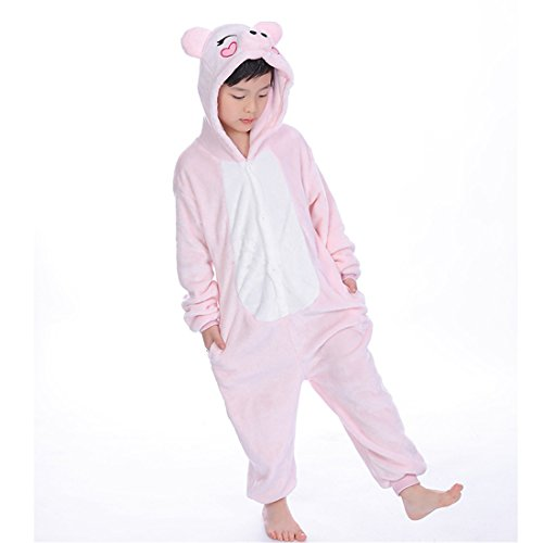 Children's Halloween Costumes Kids Pink Pig Kigurumi Pajamas Cosplay L ()