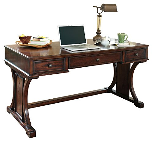 Ashley Furniture Signature Design - Devrik Home Office Desk - 2 Drawers and Keyboard Tray - Contemporary - Brown