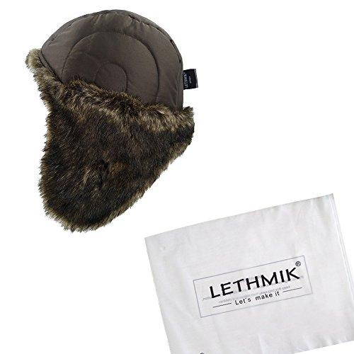 e86b12a7bbf LETHMIK Winter Ski Aviator Hat Classic Unisex Pilot Hunting Trapper ...