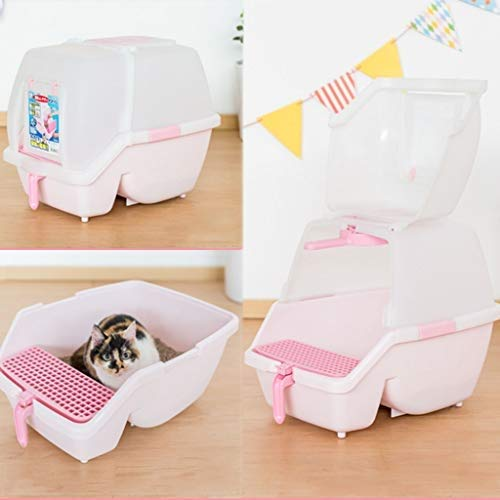 Pet Supplies Dog Litter Boxes Two-Way Door Carry Handle, Toilet Filter Charcoal Filter Deep, Cat Toilet Hygienic Odour Free Large Size, Cat Litter Tray Easy to Clean Toilet for Your Cat