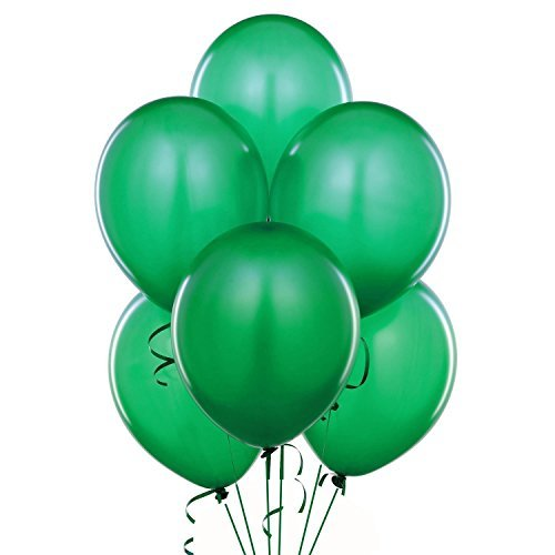 24 Inch Green Latex Balloons (Premium Helium Quality) Pkg of 10