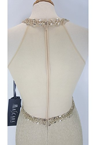 Mascara - Vestido - Sin mangas - para mujer dorado