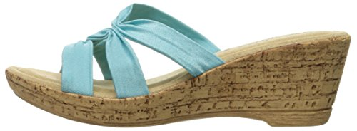 Pictures of Easy Street Women's Lauria Wedge Sandal Natural 6 N US Women 5