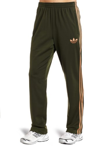 (adidas Women's Adi Firebird Track Pant, Strong Olive/Copper Metallic, XXX-Large)