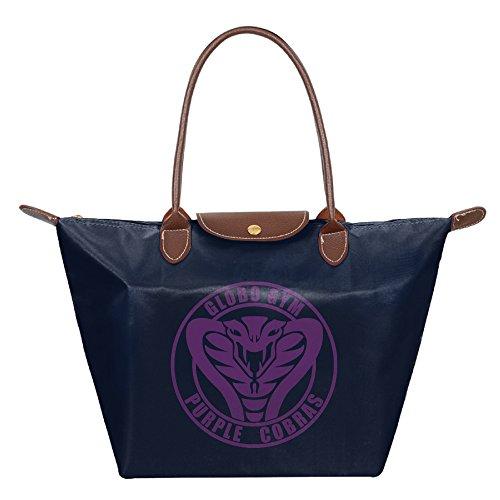 [Dodgeball Globo Gym Purple Cobras Waterproof Nylon Handbag For Women Navy] (Globo Gym Halloween Costumes)