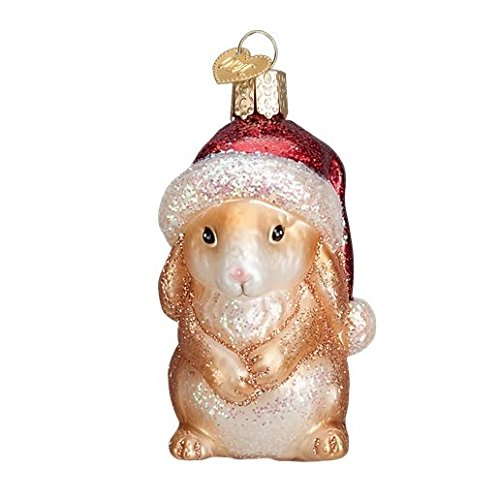 Old World Christmas Glass Blown XMAS Bunny Stand Ornament -