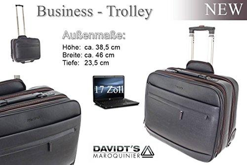 Bordcase-Trolley Pilotentrolley Aktentasche mit Rollen Pilotenkoffer Piloten Business Akten Trolley