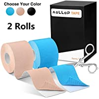 Kinesiology Tape, Elastic Therapeutic Sports Tape for Knee Shoulder Elbow,Water Resistant, Breathable,Latex Free,2