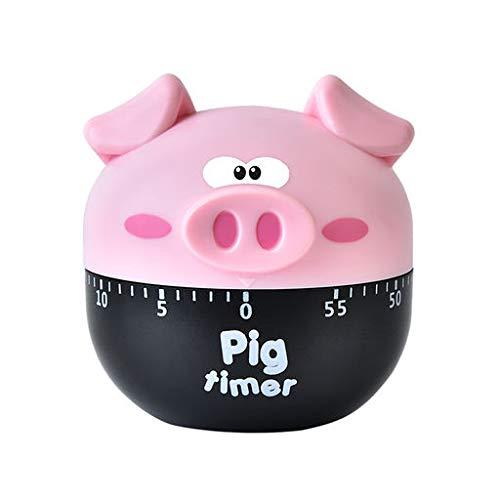 Yattafasion Precision Kitchen Timer Multicolor Cartoon Cute Pig Easy to Clean