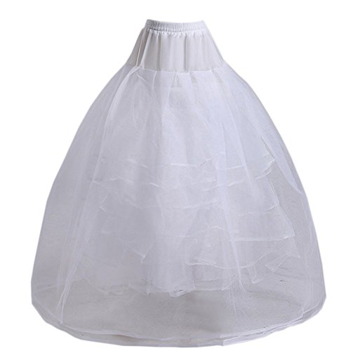 Eyekepper None Hoop A-Line Bridal Gown 4 Layers Crinoline Pe