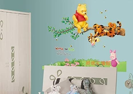 Nursery Décor Winnie The Pooh Tiger Tree Wall Stickers Vinyl Decal Kids Nursery Decor Disney Terrific Value Baby