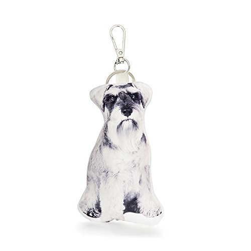 - Cushion Co - Schnauzer Dog Pillow Key Chain Ring or Bag Charm