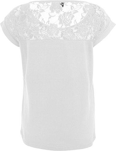 Urban Classics Damen Shirt mit Spitze white XS