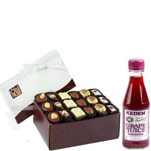 Happy Purim, Mishloach Manot Oh! Nuts Non Dairy Chocolate Truffle Gift Box - 18 Pc.