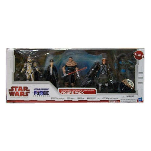 Star Wars 2010 Legacy Collection Exclusive Force Unleashed Action Figure 5Pack #1 Imperial EVO Trooper, Juno Eclipse, Galen Marek, Rahm Kota