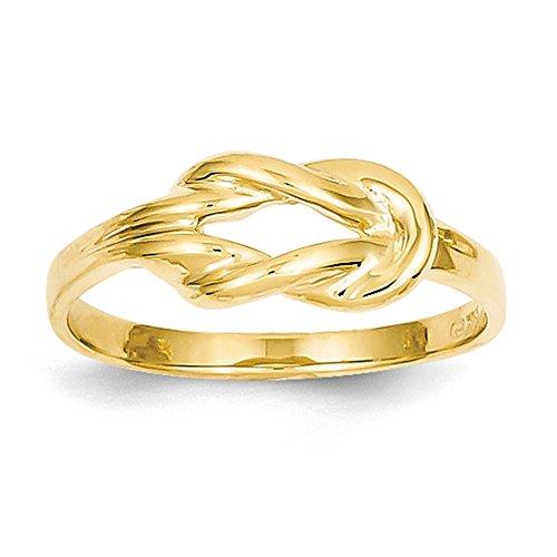 Lex & Lu 14k Yellow Gold Freeform Knot Ring