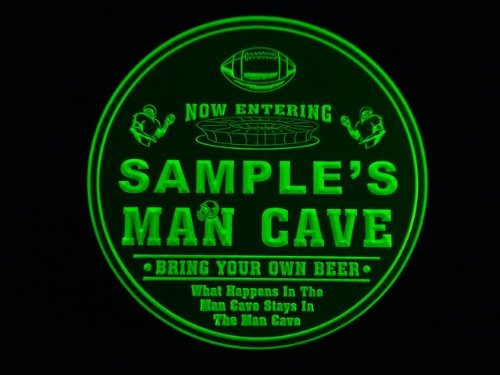 4x ccqa1299-g BECK'S Man Cave Football Bar Beer 3D Etched Engraved Drink Coasters