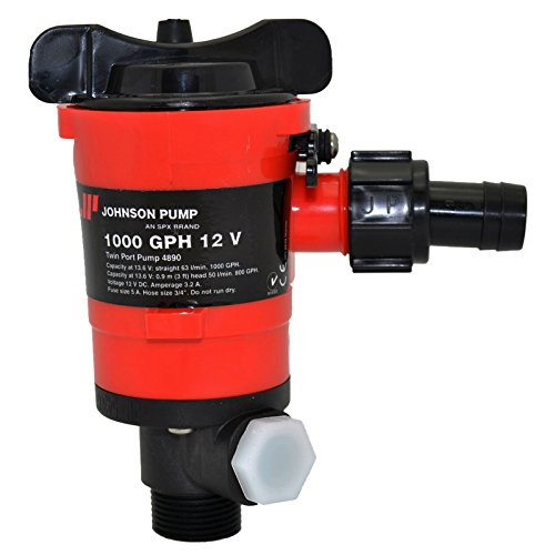 Johnson Pumps 48903 1000 GPH Aerator/Livewell Pump ()