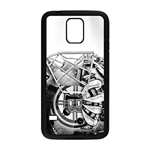 iPhone 5 5S Black Hardshell Case hippo mouth angry water Desin Images Protector Back Cover