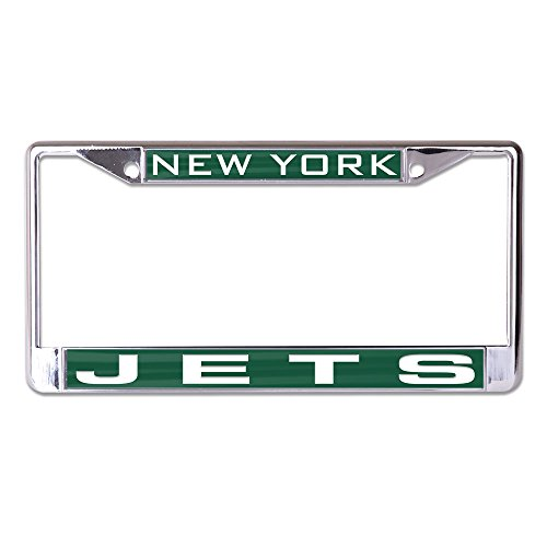 WinCraft NFL New York Jets Inlaid License Plate Frame, Team Color, One Size by WinCraft