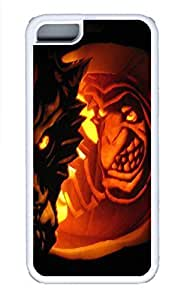 LJF phone case ipod touch 4 Cases - Lovely Mobile Phone Halloween And Clown Face White Rubber Bumper Protecting Shell