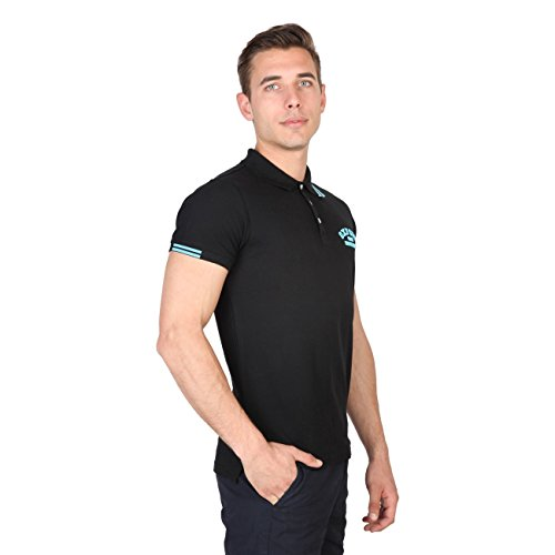 Oxford University - Herren Polo-Shirt mit Logo - Schwarz - GRÖSSEN XL