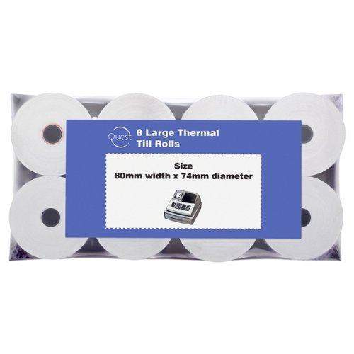Quest 8 Large Thermal Till Rolls 80mmx74mm