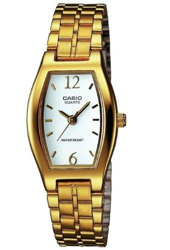 Casio LTP-1281G-7AER - Reloj de Cuarzo para Mujer, con Correa de Acero Inoxidable, Color Dorado: Amazon.es: Relojes