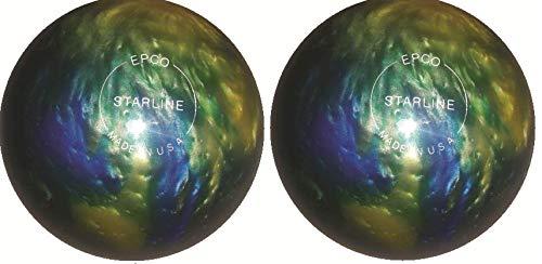 EPCO-Duckpin-Bowling-Ball-Starline-Topaz-Blue-Pearl-2-Balls