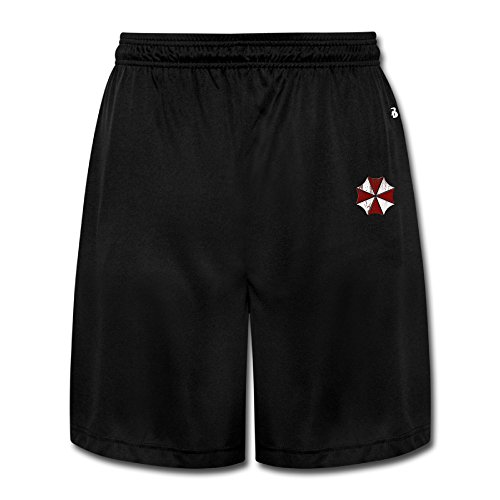CEDAEI Resident Evil Comfortable Mens Training Shorts Sport Sweatpants Black Short
