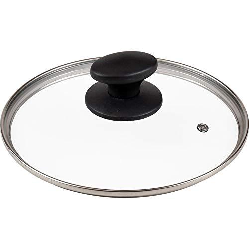 【Amazon.co.jp 限定】和平フレイズ ガラス蓋 20cm 全面物理強化 蒸気口付 AME-7189