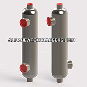 Alfa Romeo AHE-6000K BTU Titanium Shell & Tube Heat Exchanger Same Side