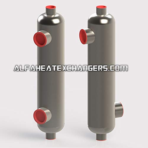 Alfa Romeo AHE-6000K BTU Titanium Shell & Tube Heat Exchanger Same Side ()