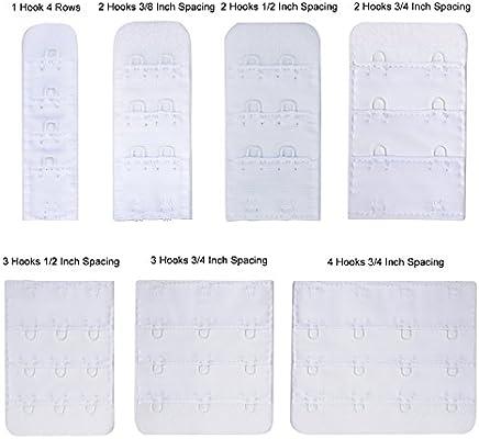 Bra Extender 4 Hooks Narrow Set of 4 Half Inch Spacing Buckles