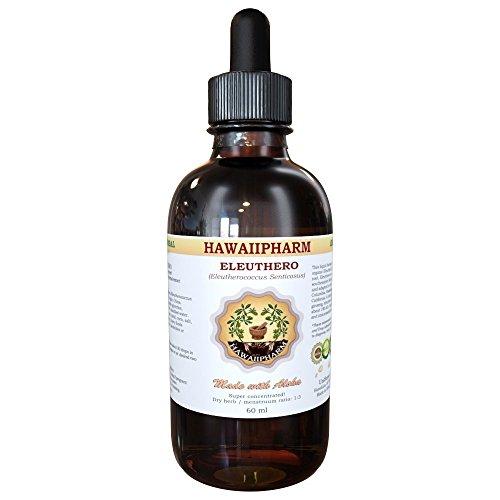 Eleuthero Liquid Extract, Organic Eleuthero (Eleutherococcus Senticosus) Siberian Ginseng Dried Root Tincture 2 oz