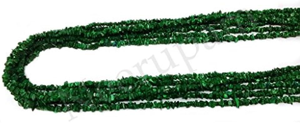 Neerupam Collection indien vert fonc/é aventurine naturelle pierres pr/écieuses non taill/ées perles de puce 33 pouces 10 lignes brin l/âche