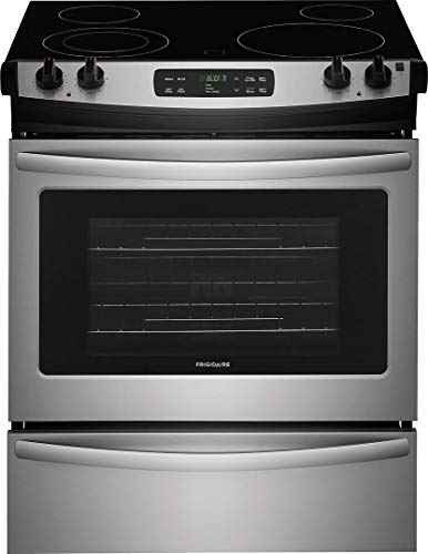Frigidaire FFES3026TS 30 Inch Slide-in Electric Range with Smoothtop Cooktop in Stainless Steel (Electric Slide 30)