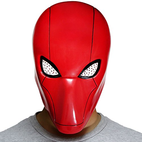 XCOSER Red Hood Mask Helmet Costume Props for Halloween Cosplay Red V2
