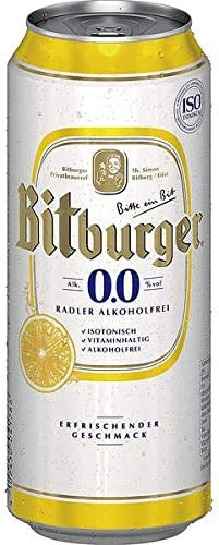 2 x Bitburger Radler 24 x 0.5L=48 latas ALCOHOL FREE ...
